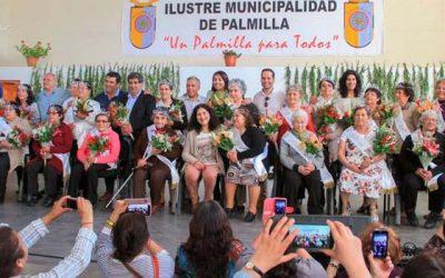 Celebración del día del adulto mayor en Palmilla