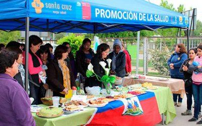 Cesfam de Santa Cruz conmemora día mundial de la alimentación