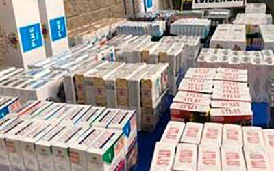 Cinco detenidos y más de un millón de pesos en cajetillas en operativo por contrabando de cigarrillos