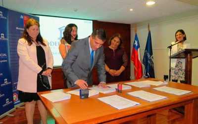 Corte de Apelaciones de Rancagua firma convenio de colaboración con Sename y seremi de Justicia