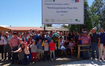 Inauguran remozada plaza Los Andes en Codegua