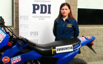 PDI recupera moto robada tras 10 días de investigación