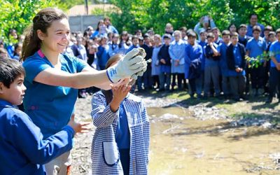 SAG libera ejemplar de chuncho en compañía de alumnos de Olivar
