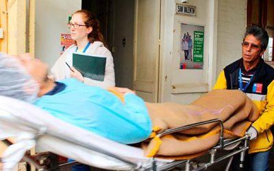 Simulacro de traslado de paciente en Hospital de Chimbarongo