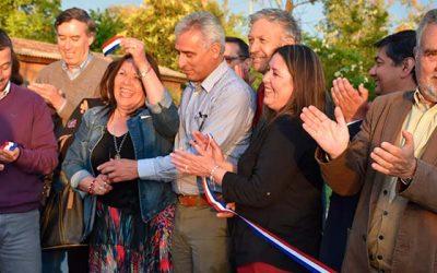 Vecinos de Santa Amalia recibieron felices sus nuevos pavimentos
