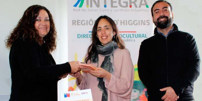 CNTV entrega valioso material a jardines de Integra