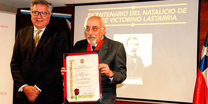 Con la entrega de medalla se pone en relieve la figura de José Victorino Lastarria en Rancagua