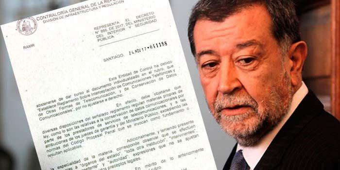 Decreto Espía Consejo para la Transparencia respalda dictamen de Contraloría