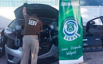 Detenido por receptación de vehículo en Rancagua