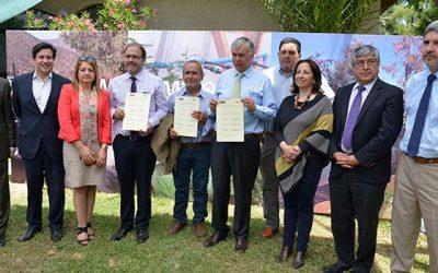 Ministerios de Agricultura, Obras Públicas y pequeños agricultores de Marchigue acuerdan iniciar trabajo para aumentar riego