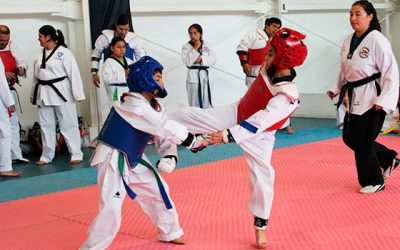 Niños rancagüinos mostraron su preparación en encuentro de Taekwondo