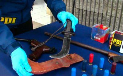 PDI detiene a sujeto con armas en Rancagua