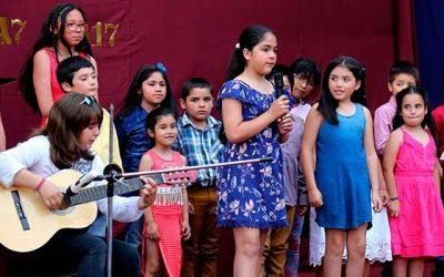 Ceremonia de cierre del programa 4 a 7 en la escuela San Hernán
