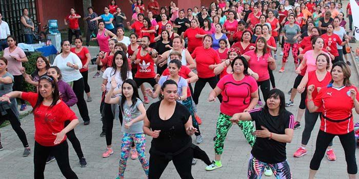 Cientos de rancagüinos participaron en las jornadas solidarias de actividad física