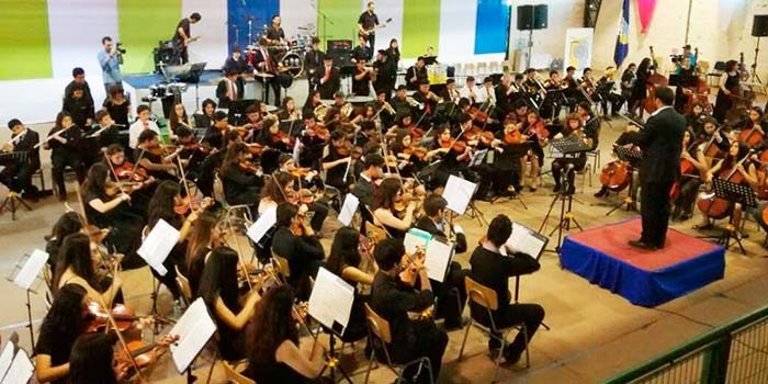 Cuarto campamento rural de orquestas sinfónicas en Palmilla