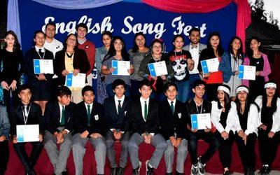 Estudiantes sanfernandinos se lucen en la segunda versión del English Song Festival