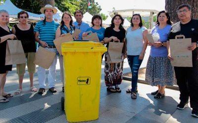 Feriantes de Rengo entregan conciencia ecológica al no usar bolsas de plástico