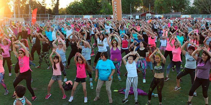 Fiesta Dance Rancagua promueve la actividad física en cientos de asistentes