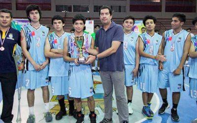 Finaliza campeonato de básquetbol escolar sub18