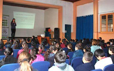 Jornada educativa sobre hábitos saludables realizó Salud Machalí a estudiantes del colegio Gabriela Mistral