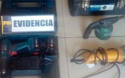 PDI recupera herramientas robadas a obra de construcción de Rancagua
