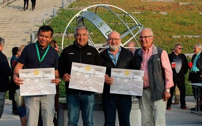 Rotarios de Cachapoal y sus pares de San Rafel de Argentina donaron reloj de sol a Hospital Regional