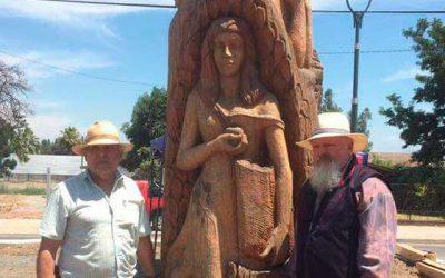 Esculturas de la familia ya se encuentran en una nueva ubicación en Rengo