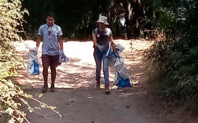 Exitosa limpieza de la ribera del rio claro en sector de popeta para prevenir incendios forestales