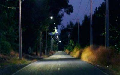 Inaugurada proyecto de luminarias LED en Olivar