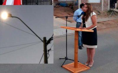 Inauguradas nuevas luminarias públicas en la comuna de Paredones