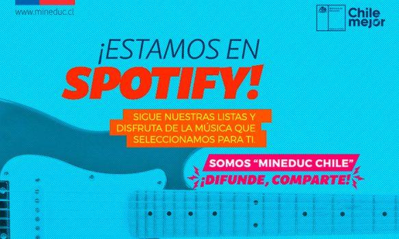 Ministerio de Educación ahora tiene un perfil de Spotify
