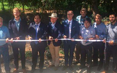 Ministro de energía inaugura primera turbina de energía micro hidroeléctrica en Doñihue