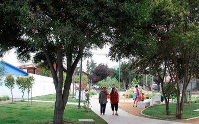 Nueva área verde que beneficia a 3 villas de Rancagua