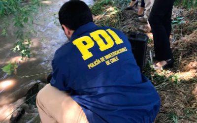 PDI investiga hallazgo de cadáver en canal de regadío de Rancagua