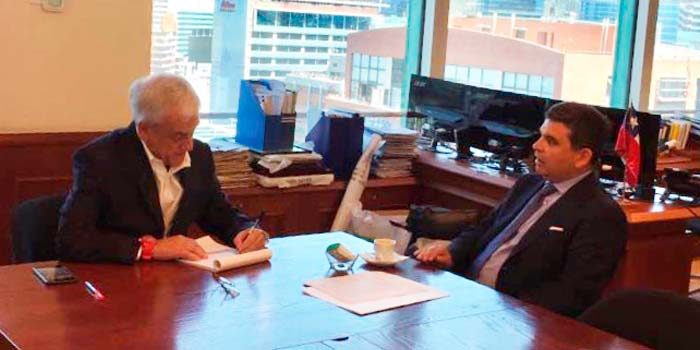 Piñera se reúne con presidente del Consejo para la Transparencia