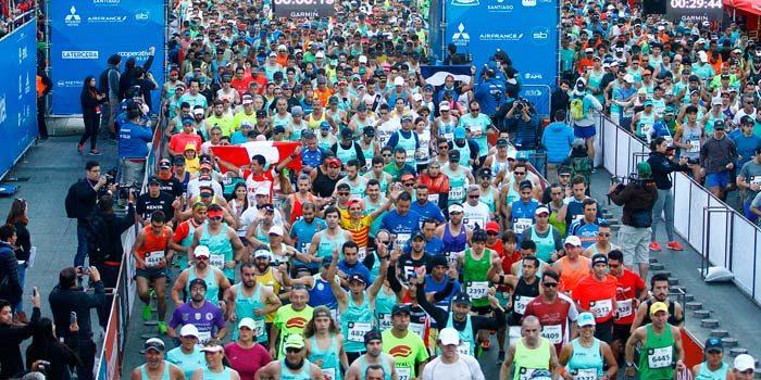 Quedan sólo cinco mil cupos para el Maratón de Santiago 2018