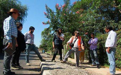 Realizan visita a camino Las Garzas de Palmilla para la culminación obras