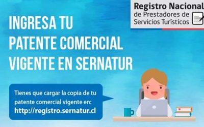 Sernatur llama a servicios turísticos registrados a actualizar sus patentes