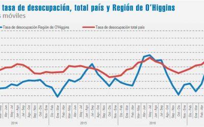 Tasa de desocupación en la región fue de 6,4%