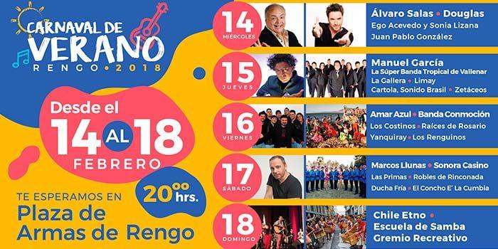 20 carros food truck y 78 artesanos estarán en el carnaval de verano Rengo 2018