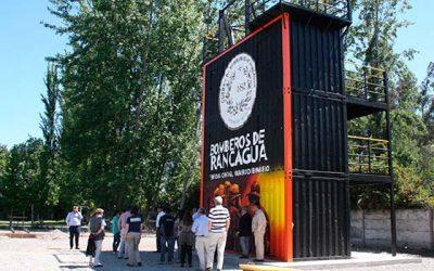 Bomberos de Rancagua inaugura su moderno campo de entrenamiento