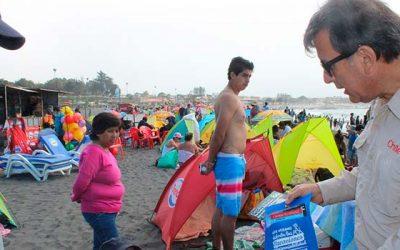 Con éxito finaliza campaña educativa impulsada por el Sernatur en playa principal de Pichilemu