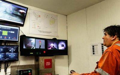 El Teniente aplica pala a control remoto para explotar zonas riesgosas