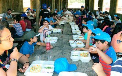 Hacienda Picarquín recibe a 700 escolares que participan en campamento de la Junaeb