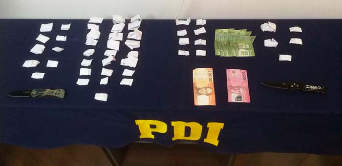 PDI detiene a dos personas por microtráfico de drogas en Skypark de Pichilemu