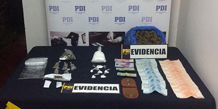 PDI incauta 800 dosis de drogas en Nancagua