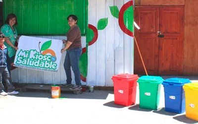 Salud Machalí fomenta el reciclaje en los kioscos saludables de la comuna