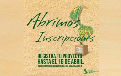 Se abre inscripción a Premios Latinoamérica Verde 2018