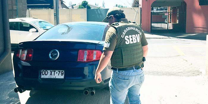 SEBV Rancagua recupera Ford Mustang de 12 millones de pesos