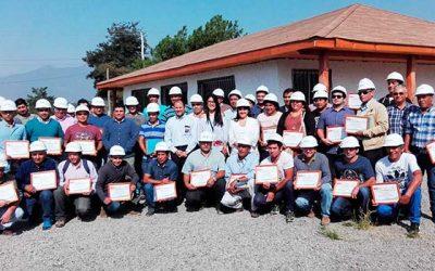 55 mineros de Chancón certifican sus conocimientos empíricos